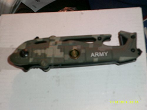 """3"""" """"Army Helicopter"""" Spring Assisted Rescue Knife - Rangers - Camo"""