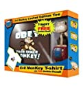 Family Guy Evil Monkey Obey Your Inner Monkey T-shirt Bobblehead Combo Size L