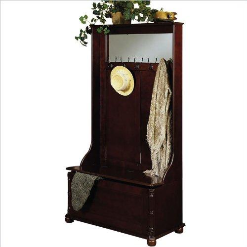 Powell heirloom cherry hall tree coat rack