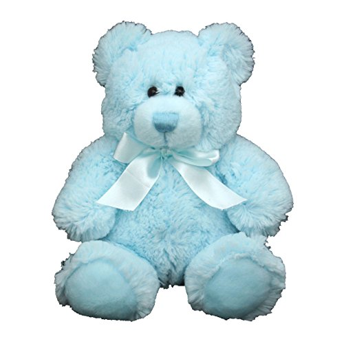 Anico Plush Toy, Stuffed Animal, Bear, Blue, 8 Inches Tall