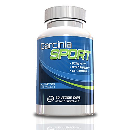 Garcinia Sport-Testosterone Booster And Fat Burner With Garcinia Cambogia, 60 Veggie Capsules, Keep The Belly Flat, Help Fight That Holiday Weight Gain, Great Gift Idea And Stocking Stuffer