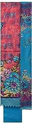 Threads Women's Spun Cotton Dress Material (Th7039_Pink And Blue)