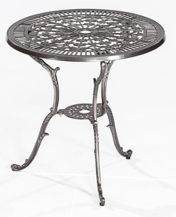 Gartentisch LUGANO aus Aluminiumguss graphit, wetterfefst