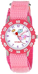 Red Balloon Kids' W000182 Butterflies Stainless Steel Time Teacher Watch
