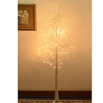 Strong Camel 8FT 132L LED Birch Light Tree W/ Icicle Twinkling (Warm White)