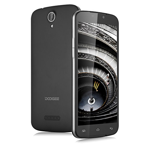 Doogee X6 – Smartphone libre Android (Pantalla 5.5″, Cámara 8 Mp, Android 5.1, Quad Core 1.3GHz, 8GB ROM, Wifi, Bluetooth), Color Negro