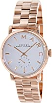 Marc by Marc Jacobs Silver Dial Rose Gold-tone Ladies Watch MBM3244