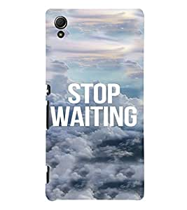 PrintVisa Life Quotes Design 3D Hard Polycarbonate Designer Back Case Cover for Sony Xperia Z4