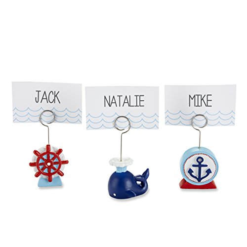 Kate Aspen Set of 6 Nautical Place Card Holders, Assorted