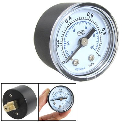 """0.35"""" Thread Male Pneumatic Systems Pressure Gauge front-41828"""