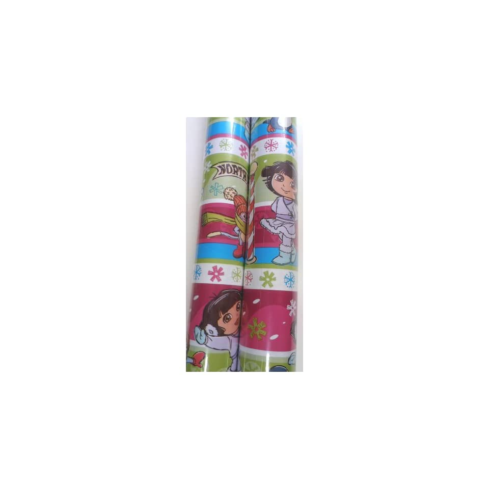 Dora the Explorer Christmas Gift Wrap Christmas Wrapping Paper 2 ROLLS