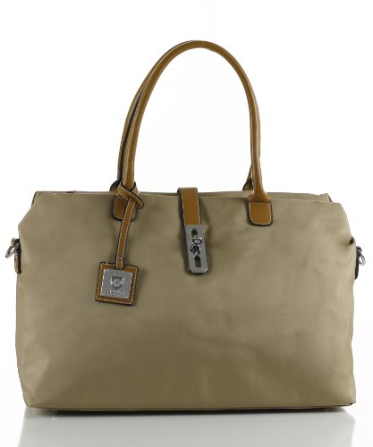 Noble Mount Oversized &#8216;Arizzo&#8217; Handbag &#8211; Tan