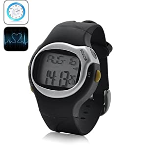 BW Sports Exercise Watch with Pulse and Calorie Reader - Black