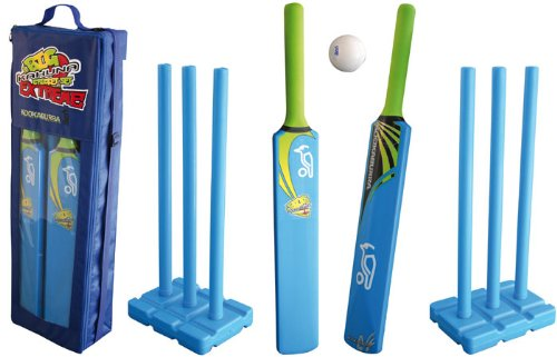 Kookaburra Kids Cricket Big Kahuna Extreme Set - Blue/Black/Green, Size 5