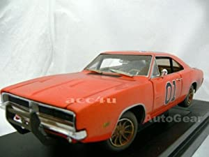 1969 Dukes of Hazzard General Lee Dodge Charger Dirty Version 1:18 Scale Diecast Model Car