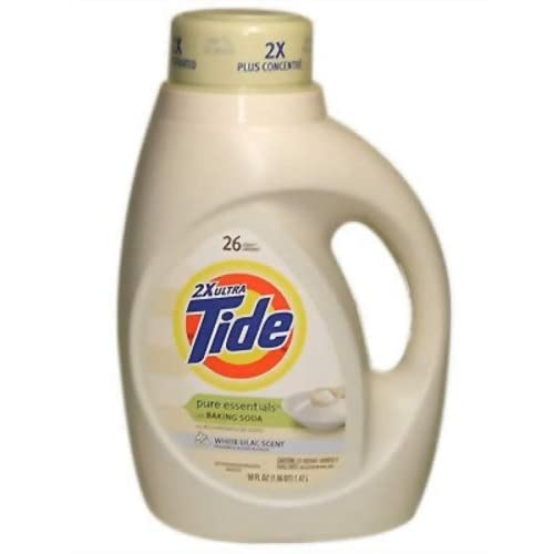 Amazon.com: Tide Pure Essence Liquid Detergent, 2x Concentrated, White Lilac, 26 Loads 50 fl oz
