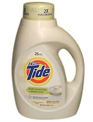 Tide Pure Essence Liquid Detergent, 2x Concentrated, White Lilac