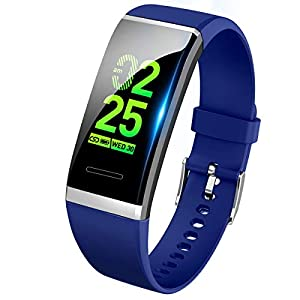 【最新版】 スマートウォッチ 血圧 心拍 歩数計 スマートブレスレット カラースクリーン 活動量計