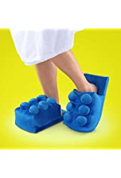 Blue Building Brick Slippers