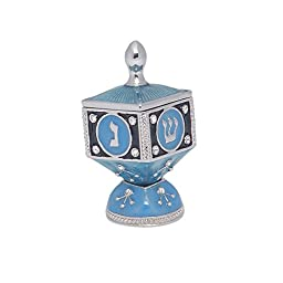 Israel Giftware Designs Hinged Enamel Collector Dreidle with Stand