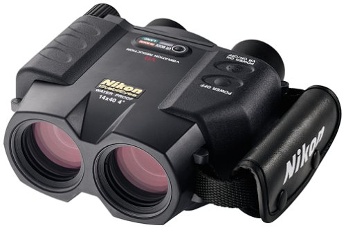 Nikon StabilEyes 14x40 Image Stabilization Waterproof Binoculars with Case, Neck Strap & Batteries