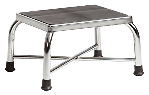 Secure SFS-1B Heavy Duty Bariatric Footstool with Non Skid Rubber Platform, Chrome Plated (Fully Assembled) (Rubber Feet Stool compare prices)