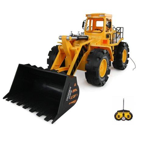 RC ferngesteuerter XXL Bagger Radlader ca. 50cm Hobby-Modell Baustellen-Fahrzeug, Auto, Kran, Schaufel, 1:10 Ready-To-Drive, Schwenkbare Schaufel, Neu