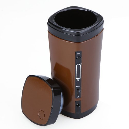 Sonline Rechargeable USB Powered Coffee Tea Cup Mug Warmer Automatic Stirring
