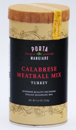 Porta Mangiare Calabrese Meatball Mix, Turkey, 5.4-Ounce Containers (Pack of 4)