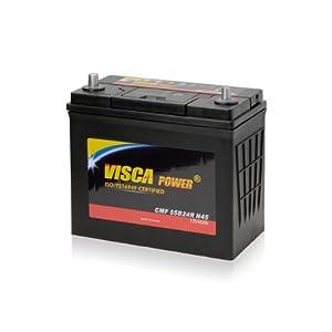 【クリックで詳細表示】【初期補充電済】VISCA / 55B24R (46B24, 50B24, 58B24, 60B24, 70B24, 75B24互換) 自動車用バッテリー シールド型MF