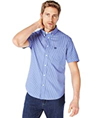 Blue Harbour Pure Cotton Double Striped Shirt