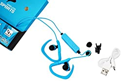 Mini Lightweight Sports Wireless Stereo Bluetooth BT-0009 Headset Headphones Earphone Earpiece Earbuds with Microphone Mic, A2DP, Noise Cancellation, Music Remote Control, for Bike Cycling, GYM, Running, Exercises of Apple iPhone 5 5s 5c, iPhone 4 4s, iPad 1 2 3, new iPad, iPod and Samsung Galaxy S2, S3, S4, Galaxy note 1 2 3, Android Cell Phones and Other Bluetooth Devices (Random Colour)