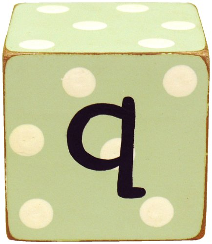 New Arrivals Letter Block Q, Green/White