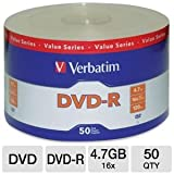 VERBATIM DVD-R 4.7GB SPINDLE PACK OF 50 DVD-R