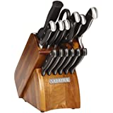 Sabatier 15-Piece Forged Triple Rivet Knife Block Set with Acacia Block