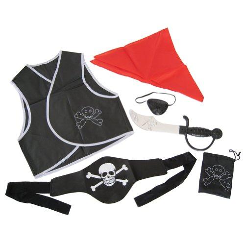 6 Piece Child Pirate Costume Accessories Set ~ Halloween Children Pirate Dress Up Set