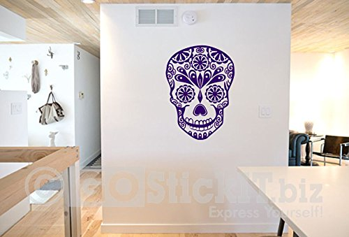 GOStickIT- Sugar Skull 1 Calevera Day of the Dead Vinyl Wall Decal