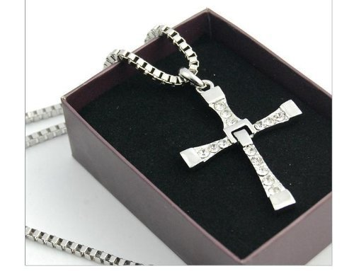 Cyqun(Tm) Fast And Furious Dominic Toretto'S Cross Pendant Necklace Vin Diesel Silver Plated