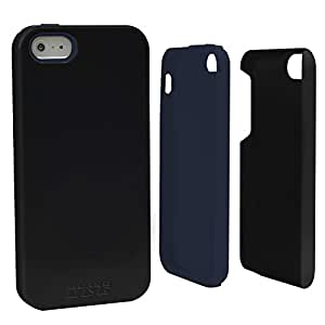 Guard Dog Hybrid Case for iPhone 5 / 5s - Black w/ Dark Blue Trim