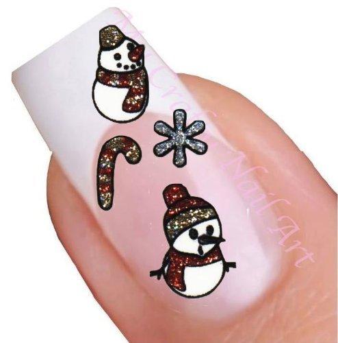 nailart sticker weihnachten glitzer selbstklebend schneemann stechpalme. Black Bedroom Furniture Sets. Home Design Ideas