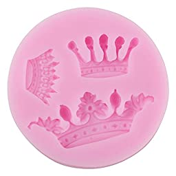 niceeshop(TM) Crown Shape Silicone Cake Molds Decoration Fondant Cookie Baking Mold ,Pink