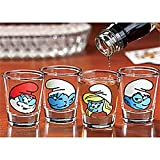 Smurfs Shot Glasses Character Barware (Set of 4)