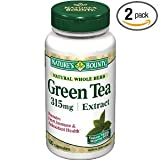 Natures Bounty Green Tea Extract, 315mg, 100 Capsules (Pack of 2)