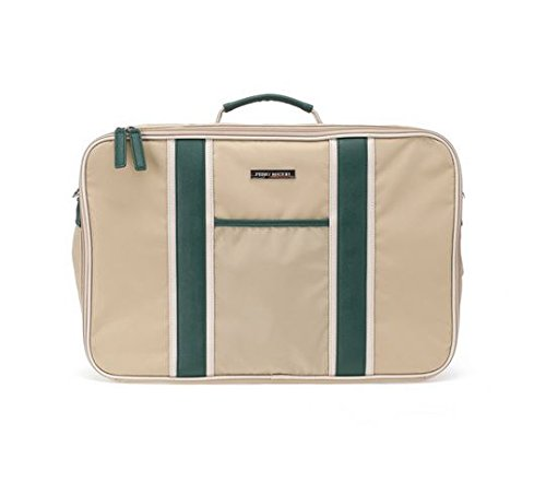 perry-mackin-water-resistant-nylon-weekender-travel-bag-beige-nylon-with-faux-leather-green-trim