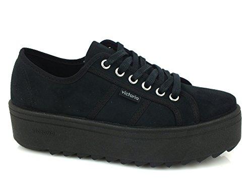 VICTORIA donna sneakers basse con piattaforma 09310 37 Nero
