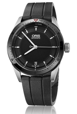 Oris Artix Gt Date Black Dial Black Rubber Mens Watch 733-7671-4434Rs