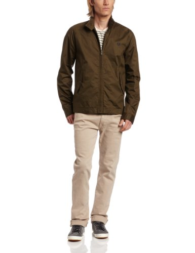 Fred Perry J2208 Men's Coated Cotton Harrington Jacket