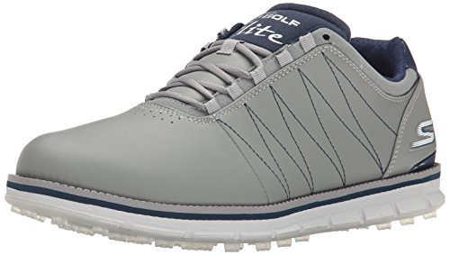 2016-skechers-go-golf-elite-leather-mens-golf-shoes-waterproof-charcoal-navy-9uk