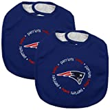 Baby Fanatic 2 Count Team Color Bibs, New England Patriots