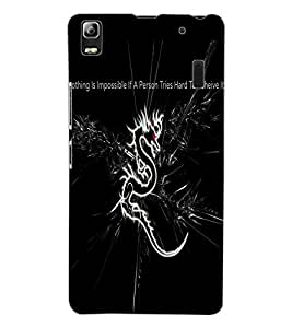 ColourCraft Dragon Image with Quote Design Back Case Cover for LENOVO A7000 TURBO